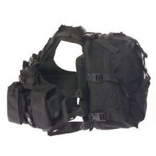 AGILITE Tactical HI VEST ATTACHING MODULAR ASSAULT PACK SET W/BACK POUCH Black
