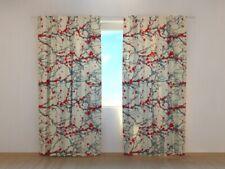 Fotogardine japanische Kirschblüten Foto-Vorhang Digitaldruck Maßanfertigung