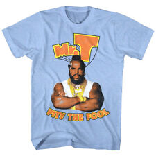A-Team Mr T Pity The Fool Men's T Shirt Ba Baracas Bling Chains Cadena Blue