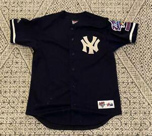 Derek Jeter #2 New York Yankees 1998 World Series Majestic MLB Baseball Jersey M