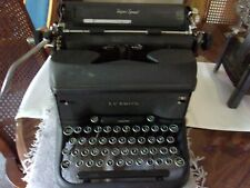 antique L.C.Smith & Corona manual typewriter glass keys GUC Super Speed