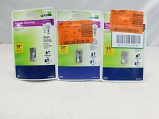 Lot of 3 Leviton Tsl06 Incandescent Toggle Slide Dimmer Switch White (lot#6)