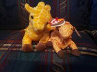 Beanie Baby TWIGS Giraffe Tag  Plush Toy RARE PVC RETIRED & MCDonalds Mini