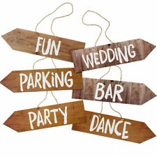 Unbranded Wedding Arrow Decorative Plaques & Signs