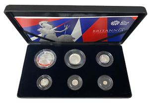 2016 United Kingdom Silver Proof Six Coin Britannia Set, Boxed with Cert No.0001