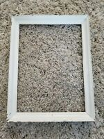 "Cottage Chic Antique Vintage Chippy White Painted Wood Picture Frame 13""×17"""