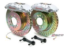 Brembo Front Gt Big Brake Kit Bbk 4piston Silver 323x28 Drill Disc Tt 8n 99 06