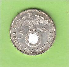 5 Reichsmark 1937 G besser als vz hübsch nswleipzig