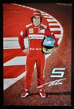 Fernando Alonso Ferrari oficial controladores tarjeta 2012.