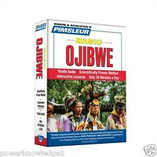 NEW 5 CD Pimsleur Learn to Speak Basic Ojibwe Language