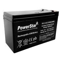 12V 8AH Replacement PowerStar ( 9Ah ) Battery for APC BACK-UPS BE750G 750VA
