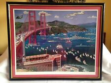 "Alexander Chen ""Golden Gate Bridge"" San Francisco Signed Numbered Art Serigraph"