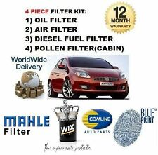 FOR FIAT BRAVO 1.9 MJTD 6/2007-> SERVICE KIT OIL AIR FUEL POLLEN FILTER KIT (4)