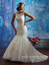 Lace Scoop Neck Wedding Dresses 16 Size (Women's)