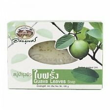 Abhaibhubejhr Soap Skin of Guava Leaves 100g. Bar Soaps Bath Body Health Beauty