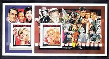 More details for burkina faso 1995 michel b146/c history of cinema 3 imperf blocks. cat 60 euros