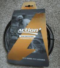 Ashima Action Plus Road bike Brake Cable & ferrules Kit Carbon/Grey Colour