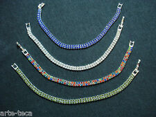 stock 4 bracciali tennis strass moda swaroski cristallo 2 fili bigiotteria