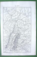 "1846 ANTIQUE ORIGINAL MAP - GERMANY Rhine River Valley 10 x 15"" (25 x 38 cm)"