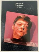 Star Trek TOS 1985 Greeting Card Dr. McCoy Vintage