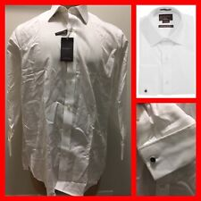 BLACK BROWN 1826 Classic Fit Non-Iron Egyptian Cotton Tux Shirt 16 1/2 32 NWT
