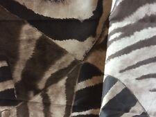 Ralph Lauren VICTORIA FALLS ZEBRA SATIN BROWN CUSHION COVER