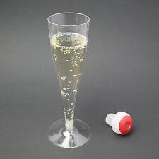 50 Einweg-Sektgläser Champagnergläser Sektglas Sektflöte 0,1 l Plastikglas klar
