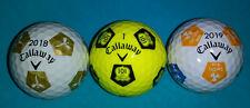 3 New Collectible Callaway Chrome Soft Truvis Golf Balls Rare