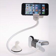 Universal flexible long arm mobile phone holder white
