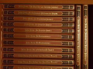 Jules Verne, Auswahl von 37 Bände 13 sind weg Prachtband Einband nach Hartleben