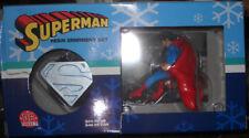 3 LOT DC DIRECT RESIN ORNAMENT SETS SUPERMAN BATMAN NIB