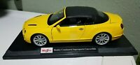Maisto Bently Continental Supersports Convertible Special Edition 1:18 Die Cast