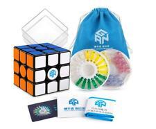 Gan 356 X Magnetic Speed Magic Cube 3x3 Sticker Black Puzzle (Numerical IPGV5)