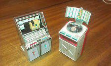 2 NEW MINIATURE JUKEBOXS SEEBURG & AMI CONTINENTAL 13CM ORNAMENT DOLLSHOUSE
