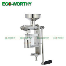 Oil Expeller Nut & Seeds & Peanut Manual Oil Screw Press Machine 304# Stainless