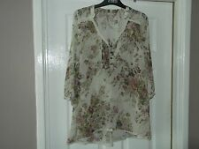 LADIES MARKS AND SPENCER INDIGO TOP SIZE8