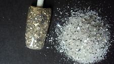 glitter mix acrylic gel nail art   crafts    WHITE DIAMONDS