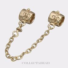 Authentic Pandora 14kt Gold Flower 5cm Safety Chain 750312
