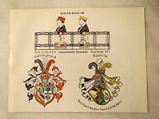 Hohenheim - SC - Corps Germania - Suevia - Wappen - Tafel / Studentika