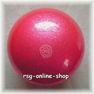 RSG WETTKAMPFBALL Gymnastikball JUNIOR 16 NEW QUALITY Galaxy rosa TECHNO RUBBER