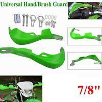 """For Kawasaki KFX450R KFX400 KLX250 7/8"""" 22mm Handguard Hand Guards - Green"""