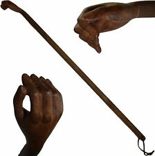 Rückenkratzer, Kratzhand, Buckelkratzer Hand aus Walnuss-Holz geschnitzt 51 cm
