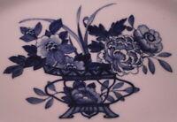 Antique 19thC Meissen Porcelain Blue Peony Design Platter Porzellan Platte