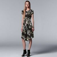 NEW Women's Simply Vera Vera Wang Dress Floral Belted size XS