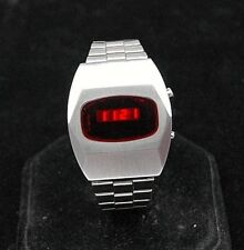 Vintage Compu Chron LED watch, Hughes movement