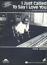 Stevie Wonder – I Just Called to Say I Love You 1984 Sheet Music