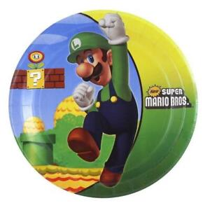 Super Mario Brothers Dessert Plates Birthday Party Supplies 8 Per Package New
