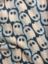 Lularoe OS Leggings Halloween Ghosts Blue Pac Man Costume Trick Or Treat Exc