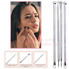 4pcs Blackhead Acne Comedone Pimple Blemish Extractor Remover Stainless Tool Kit
