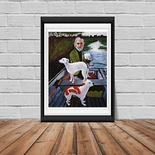 Goodfellas Man and two dogs painting reproduction poster print Various sizes
